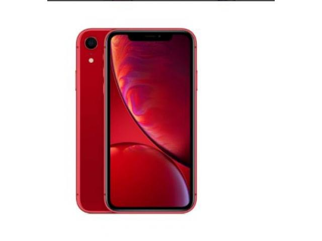 Apple iPhone XR (64GB, (PRODUCT)RED) + Cricket Wireless Plan - 1