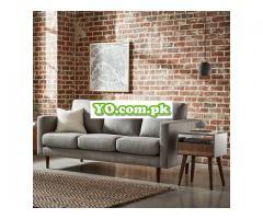 "Rivet Revolve Modern Upholstered Sofa Couch, 80""W, Grey Weave - Image 2"